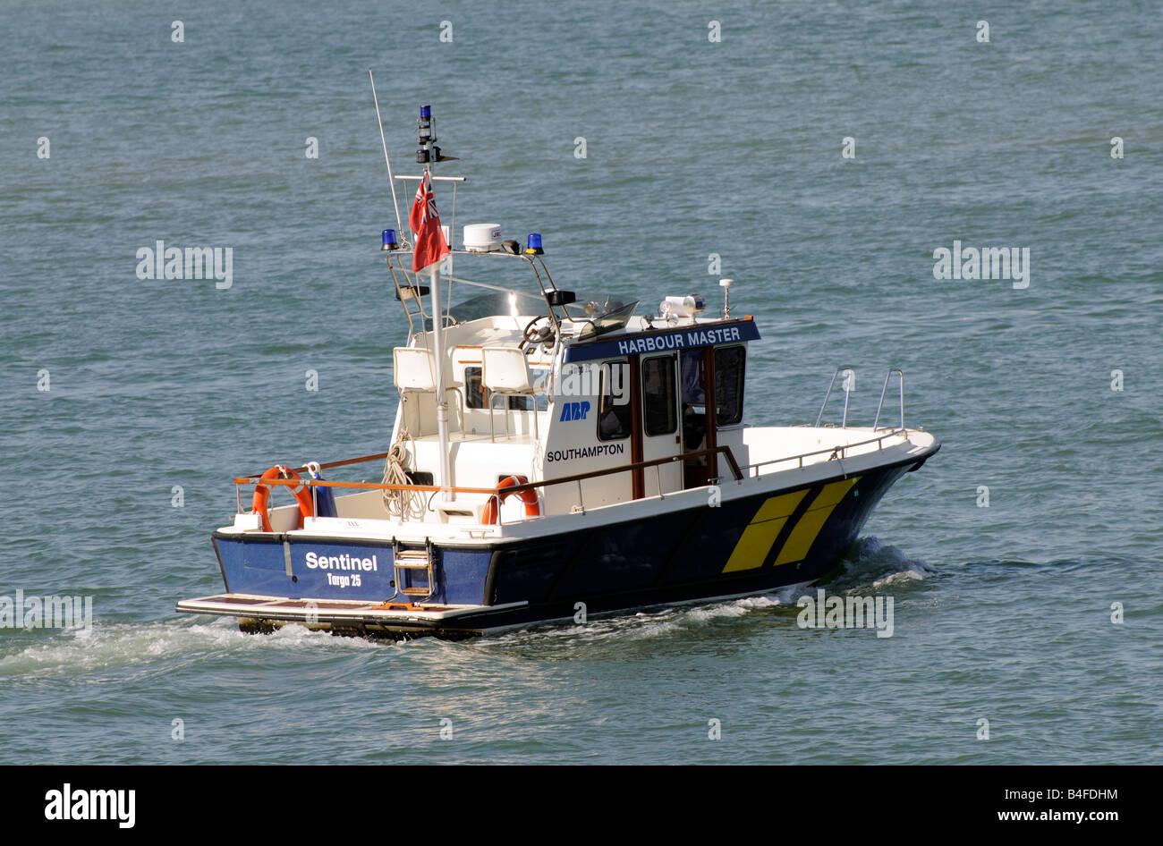 Harbour master launch ABP Southampton water England UK The Sentinel targa 25 - Stock Image
