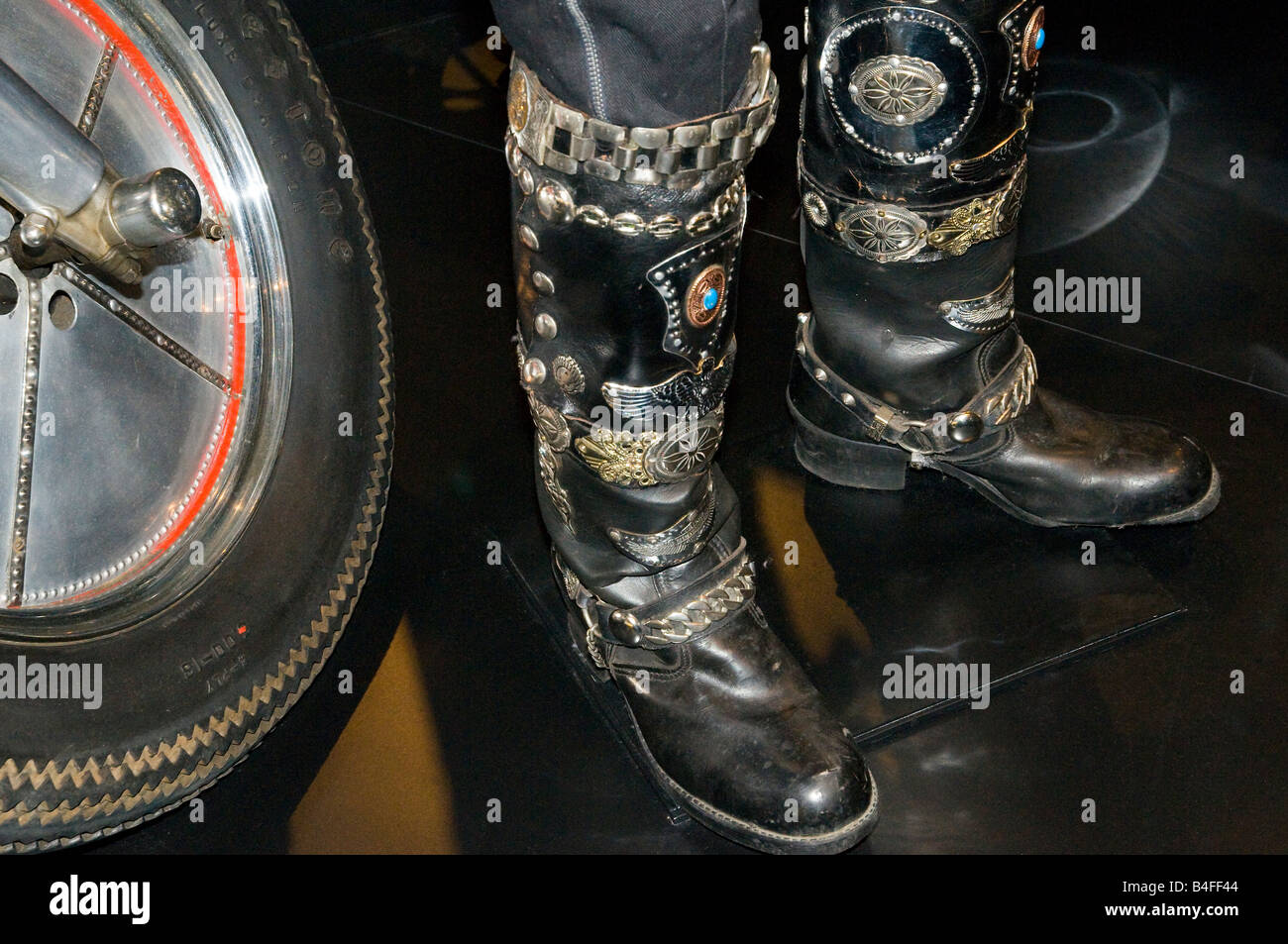 1b53c8c647b Custom Motorcycle Boots on display at the new Harley-Davidson museum ...