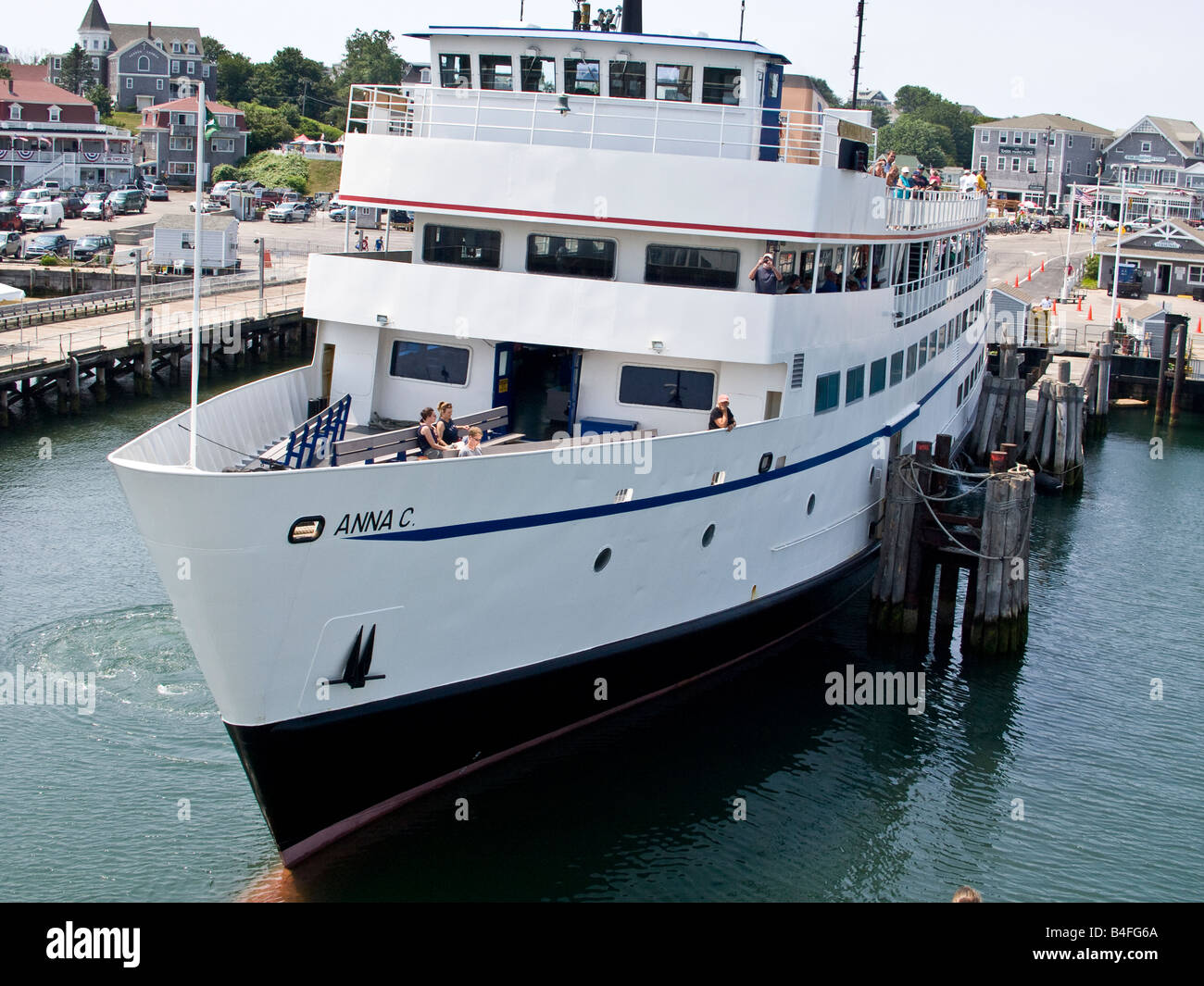 block island ferry boat stock photo: 20010994 - alamy