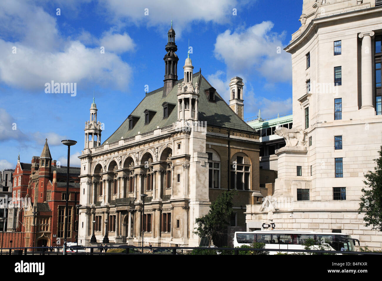 Unilever Office Building and Old City of London School by the Blackfriar Bridge City of London England UK - Stock Image