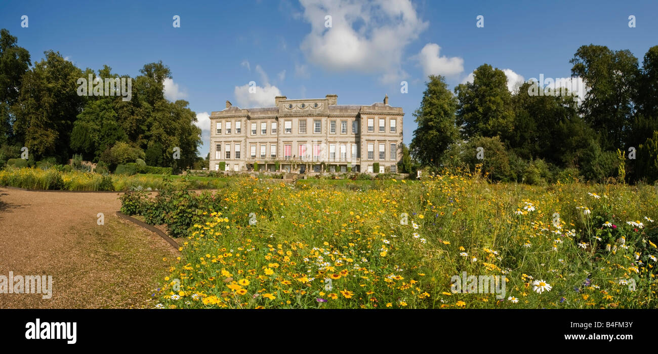 the gardens of a stately home Stock Photo
