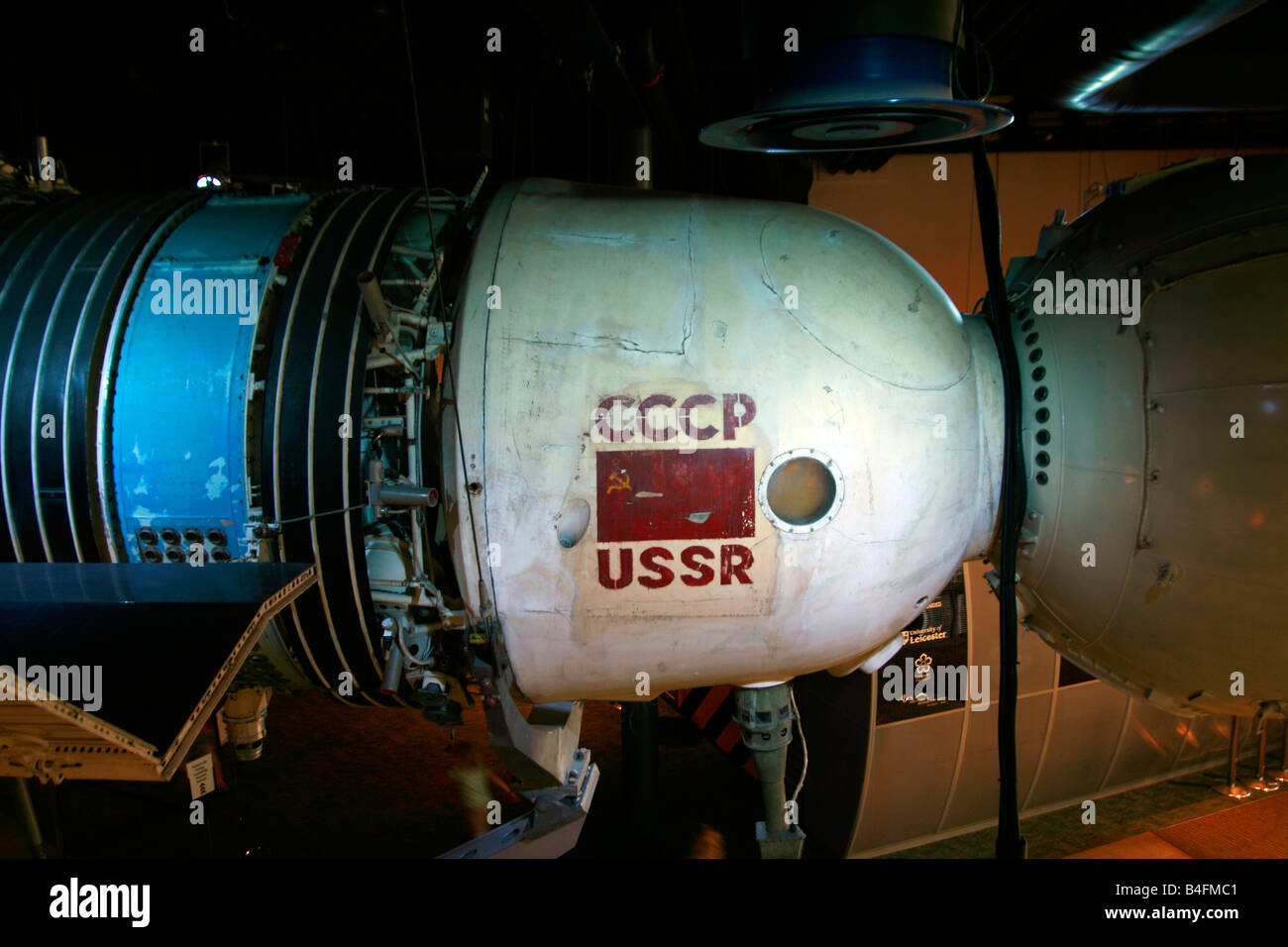 Soyuz space capsule National Space Museum Leicester Leicestershire - Stock Image