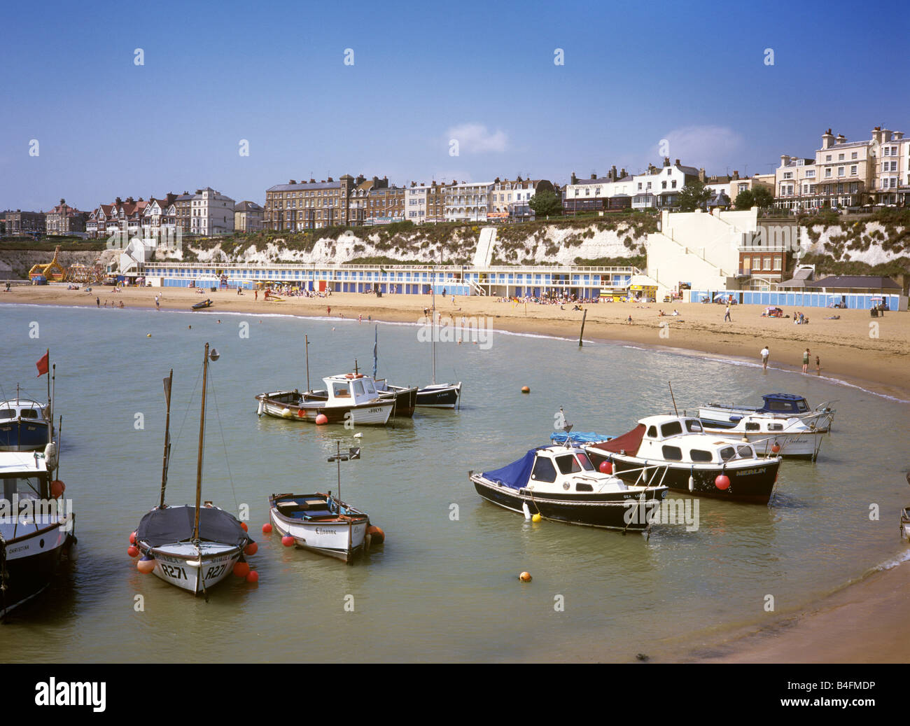 UK England Kent Broadstairs Viking Bay - Stock Image
