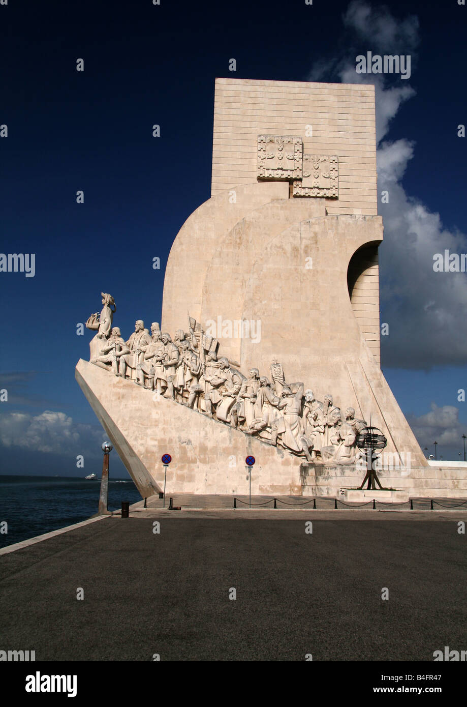 Discoveries Monument Padrao dos descobrimentos in Belem - Stock Image
