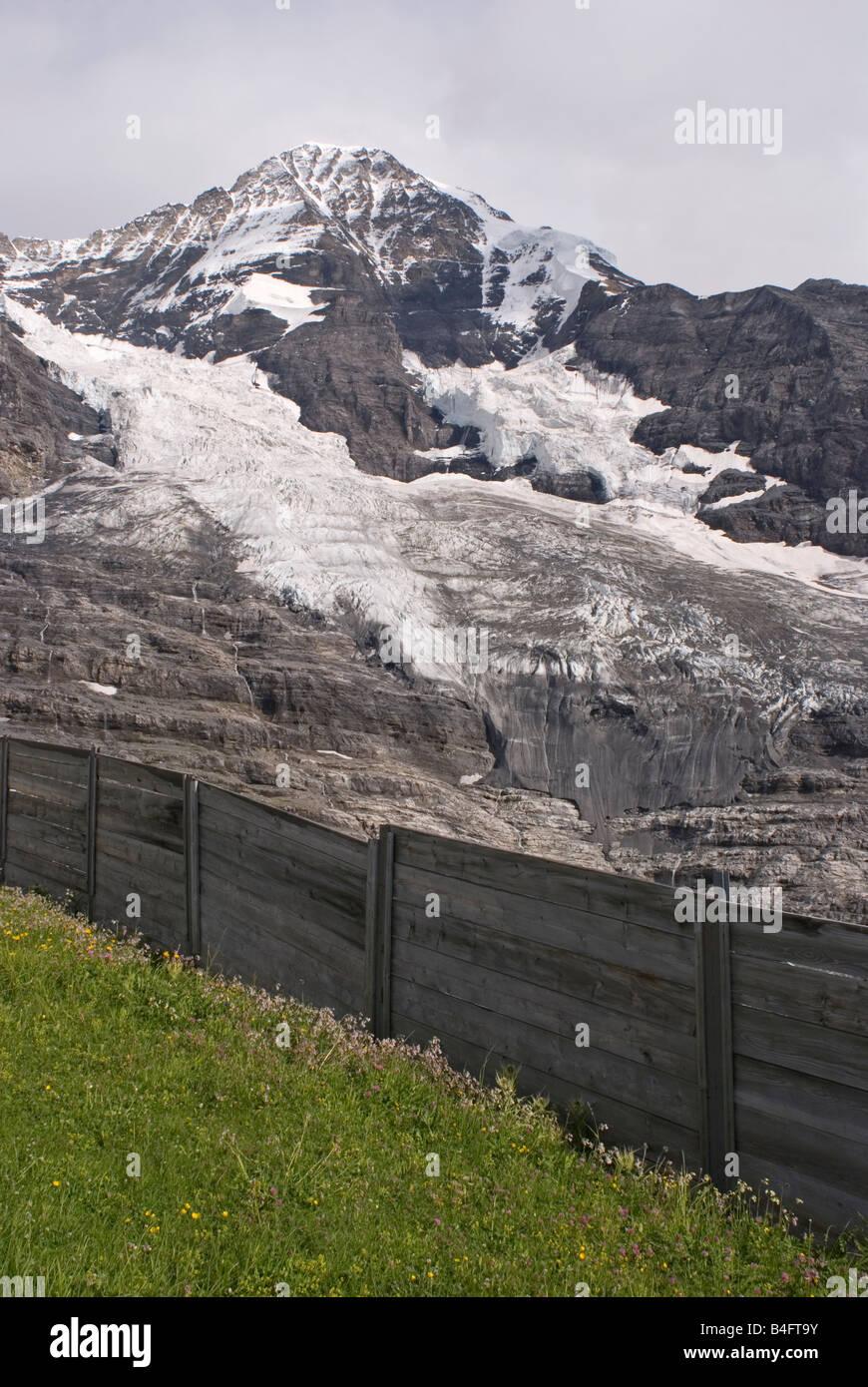 Jungfraujoch glacier Bernese Canton Switzerland Stock Photo