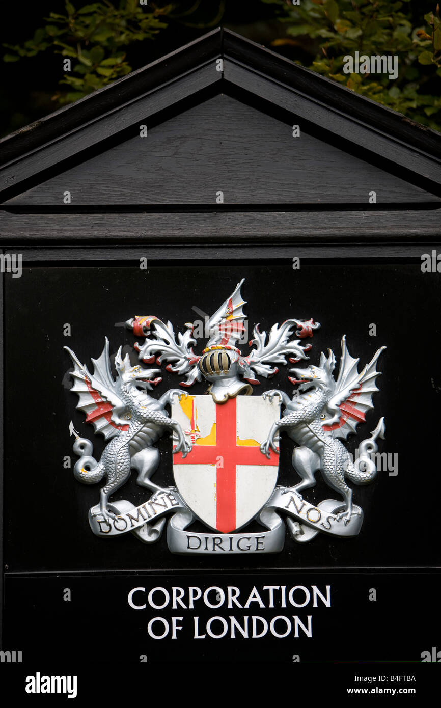 Coat Of Arms And Emblem Of The Corporation Of London Stock Photo