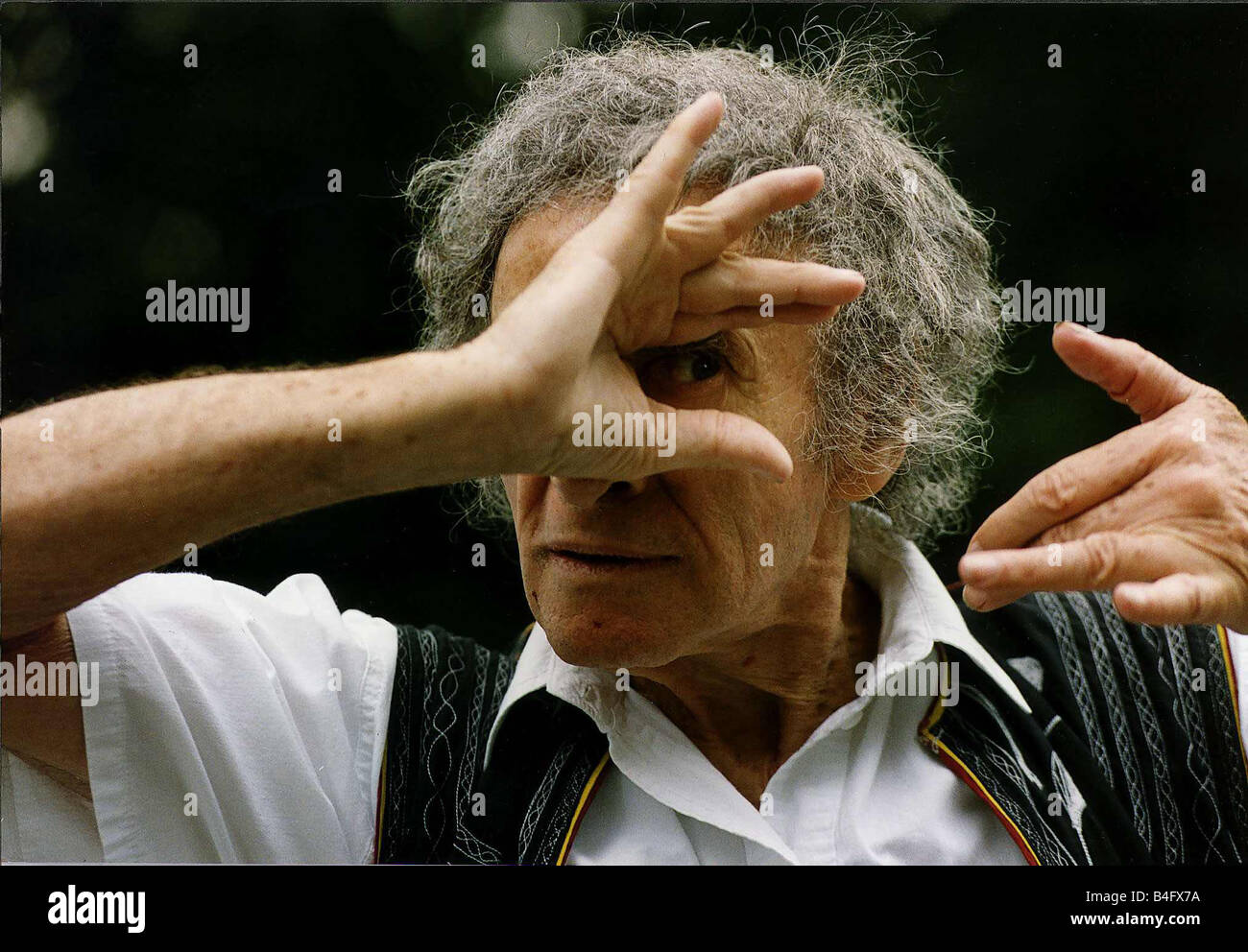 Marcel Marceau French Actor Mime artist DBase Mirrorpix - Stock Image