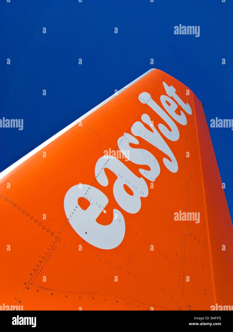 Detail of easyjet plane fin - Stock Image