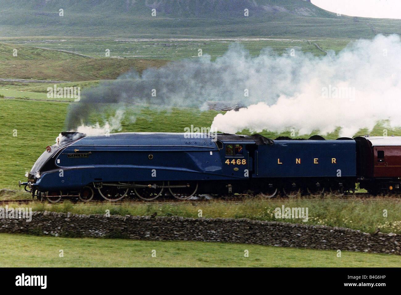 Mallard Steam Engine Train that broke the world record for steam at 126mph - Stock Image