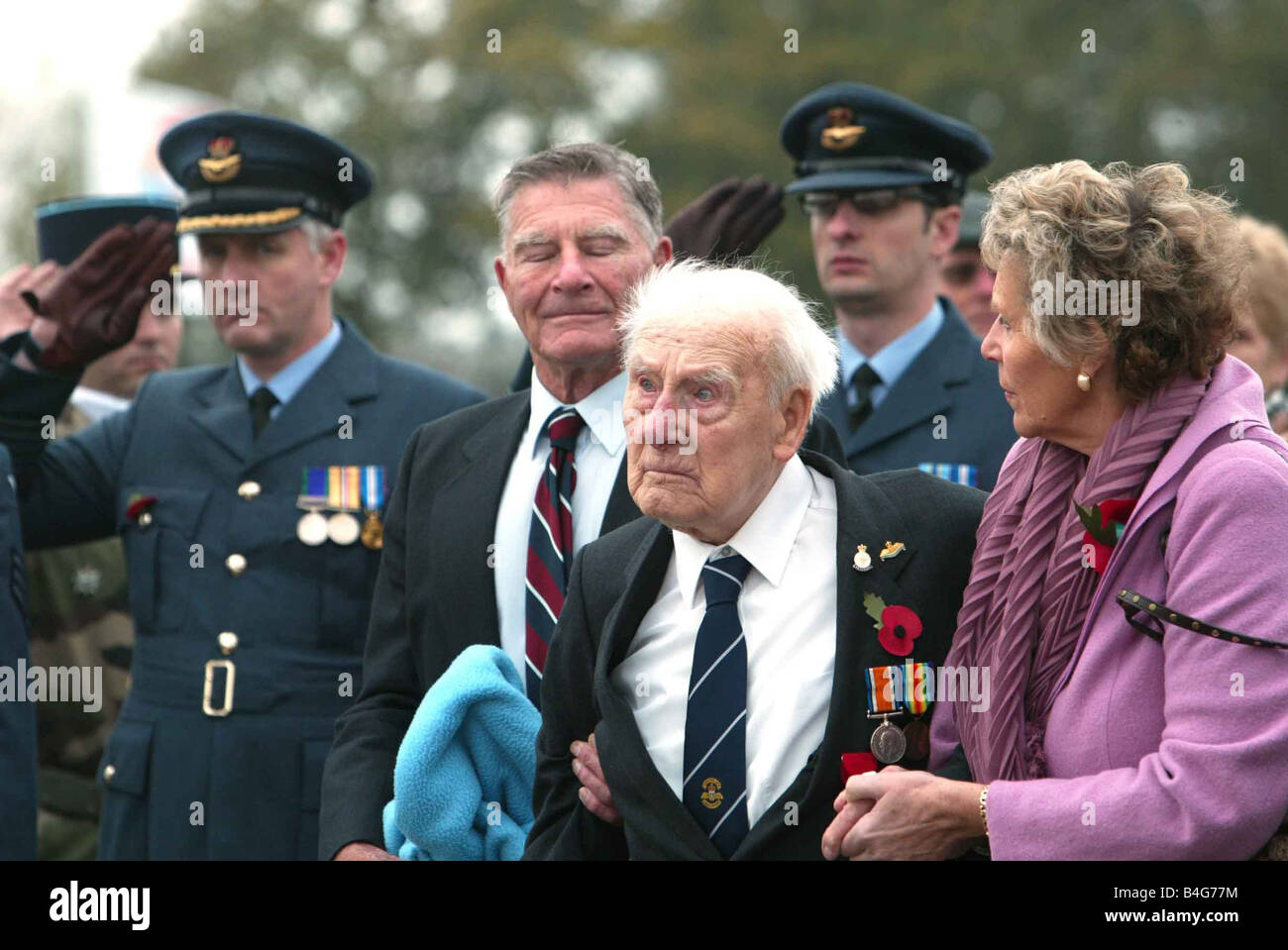 Henry Allingham the last survivor of the Battle of Jutland and the last surviving founder member of the Royal Air - Stock Image
