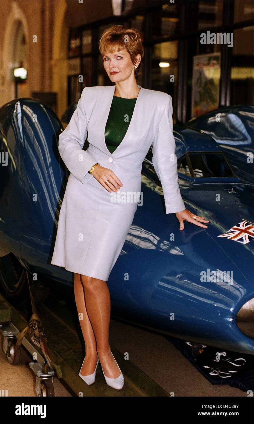 Fiona Fullerton Actress at the launch of the Orient Express Trophy from Victoria Station Stock Photo
