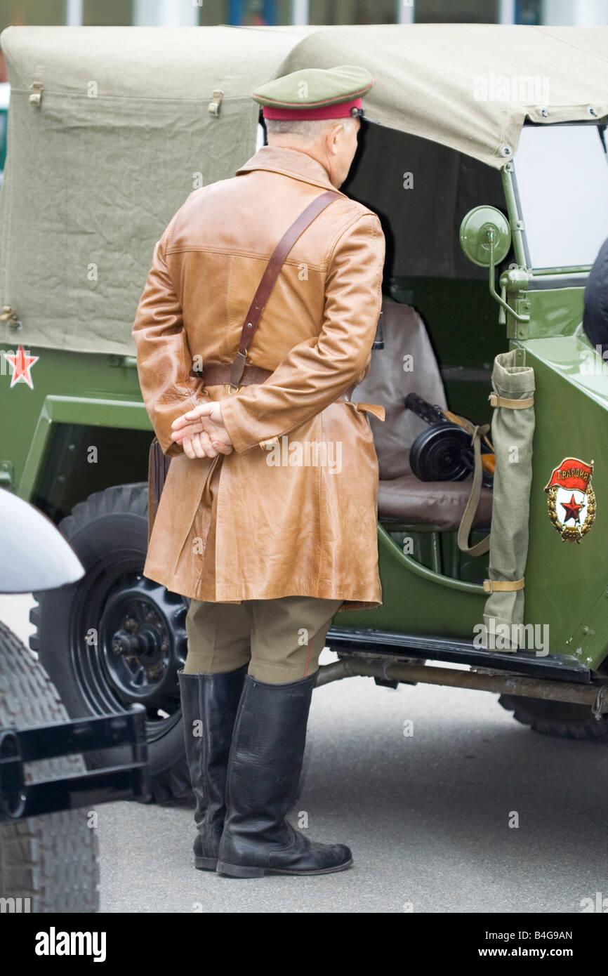 commander officer partisan soldier World War 2 - Stock Image