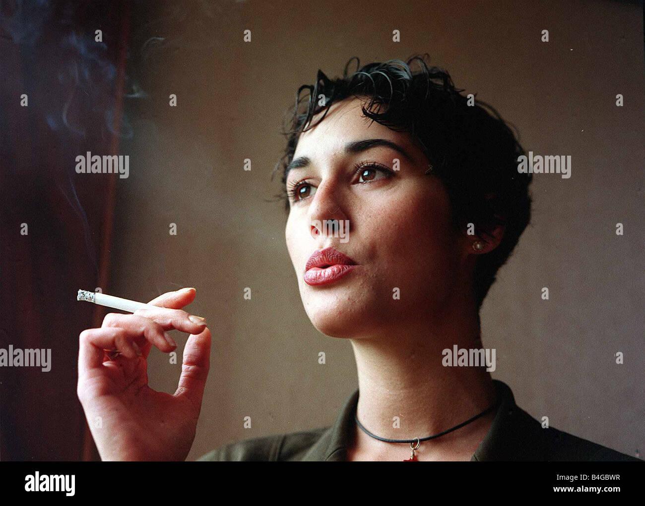 Rachel Brown Actress Cadburys Flake Tv Advert Girl Smoking Stock
