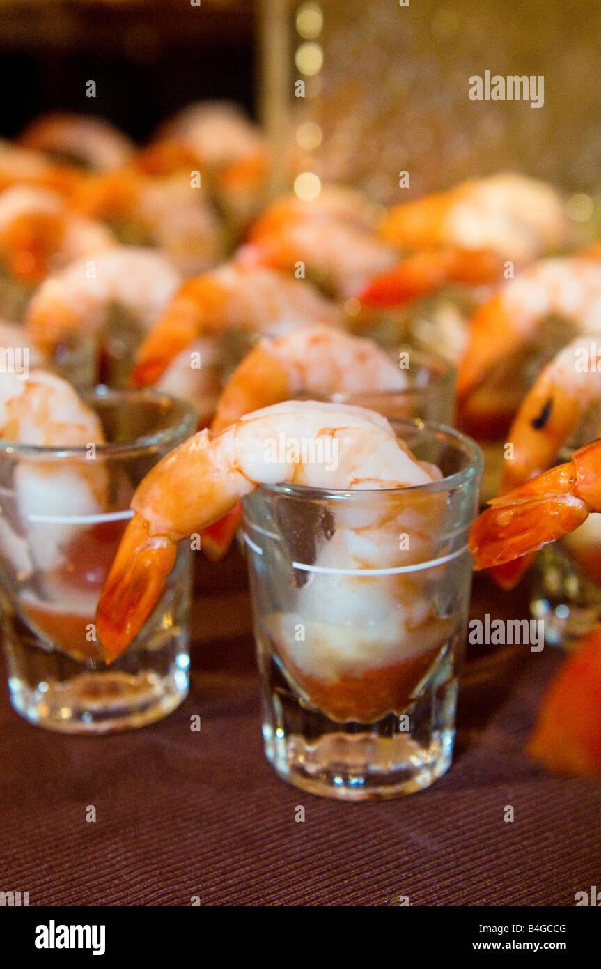 shrimp cocktail appetizer - Stock Image