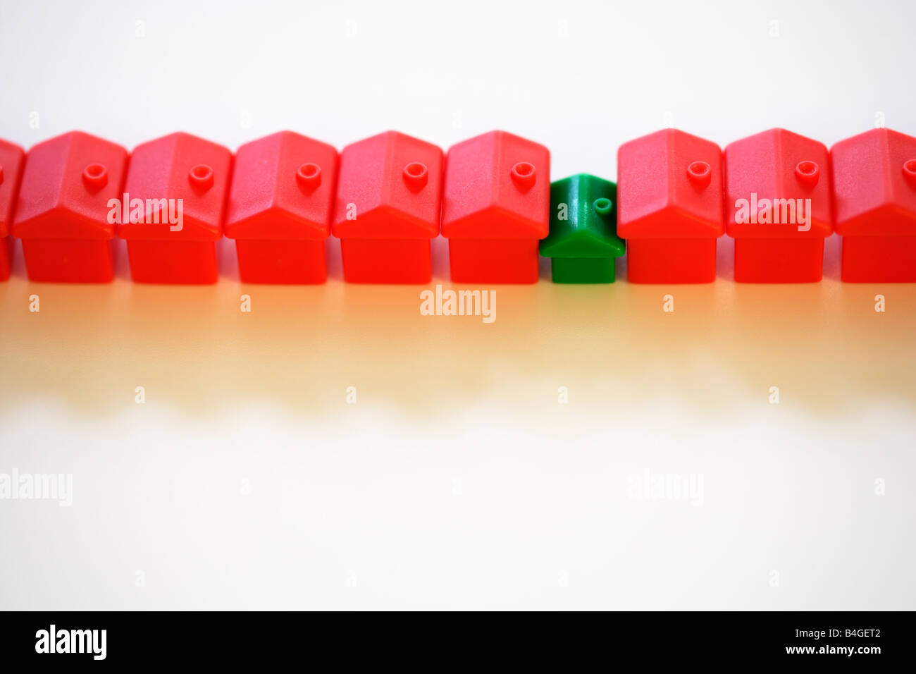 Row Of Monopoly Hotels And Green House Stock Photo 20031874 Alamy