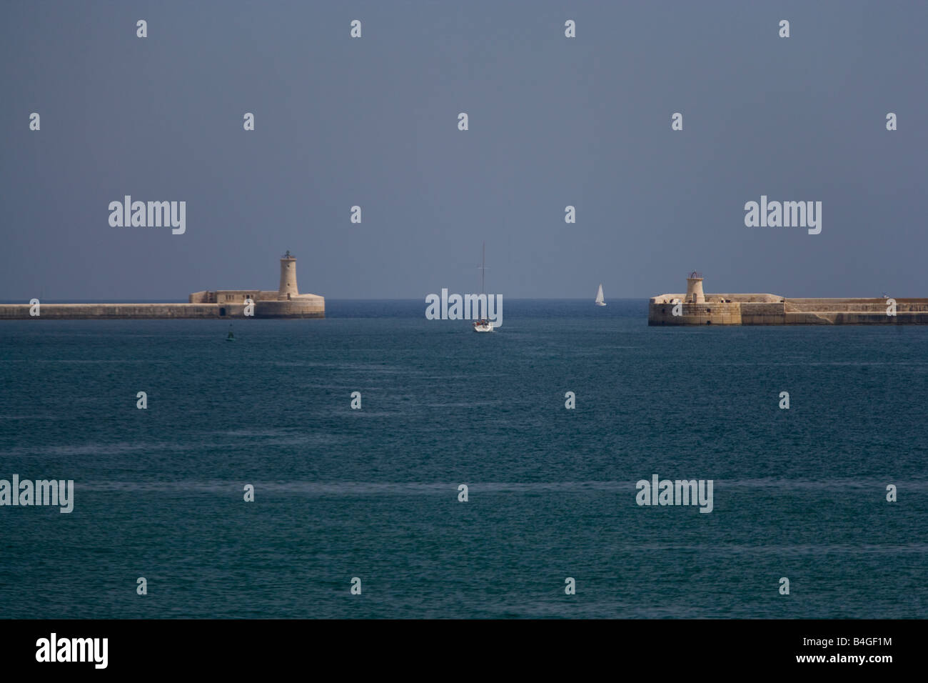 harbours mouth valletta harbour Stock Photo