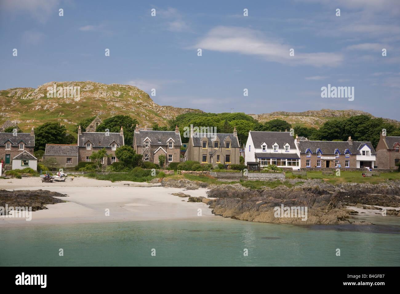St Ronan s Bay Iona Scotland - Stock Image