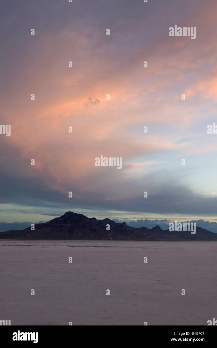 Bonneville Salt flats Utah USA Great Salt Lake Stock Photo