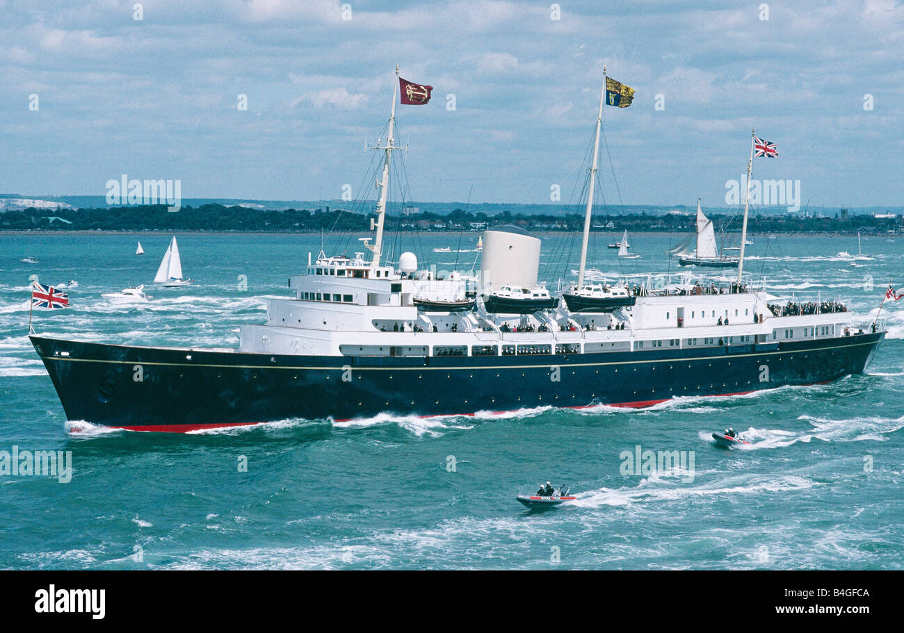 Royal Yacht Britannia Solent England - Stock Image