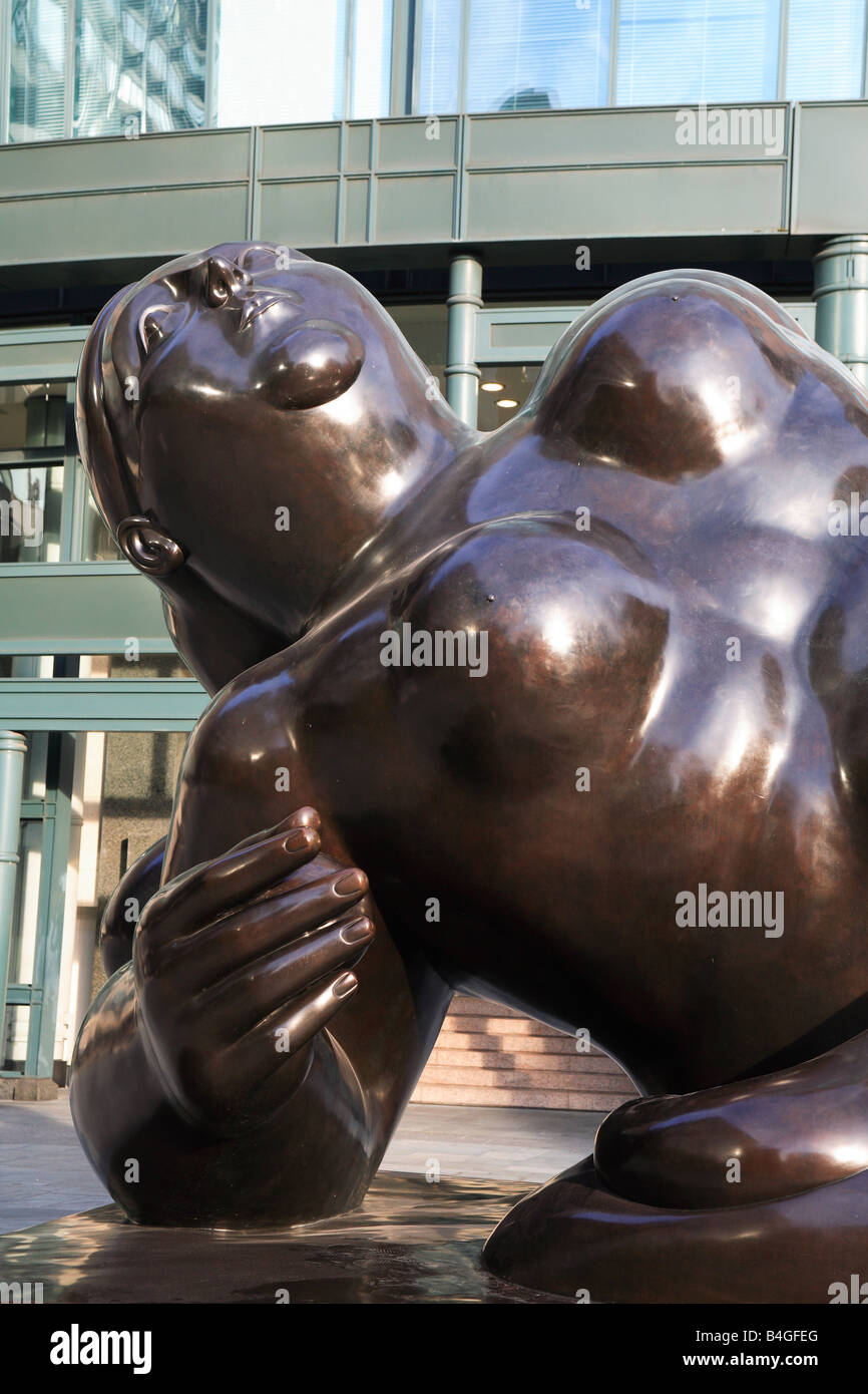 Broadgate Venus sculpture by Fernando Botero  Exchange Place the City of London England - Stock Image