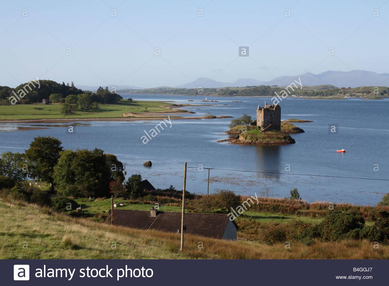 Castle Stalker, Off Loch Linnhe, Scotland - Stock Image