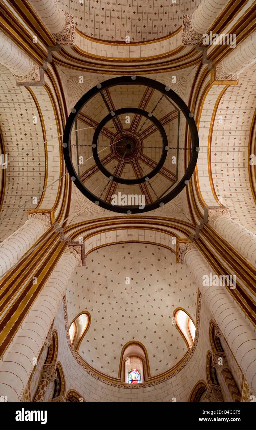 Chauvigny bei Poitiers, Saint-Pierre, Vierungsgewölbe - Stock Image