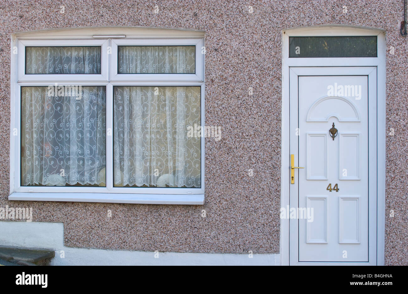 Modern White Upvc Window And White Front Door With Glazed