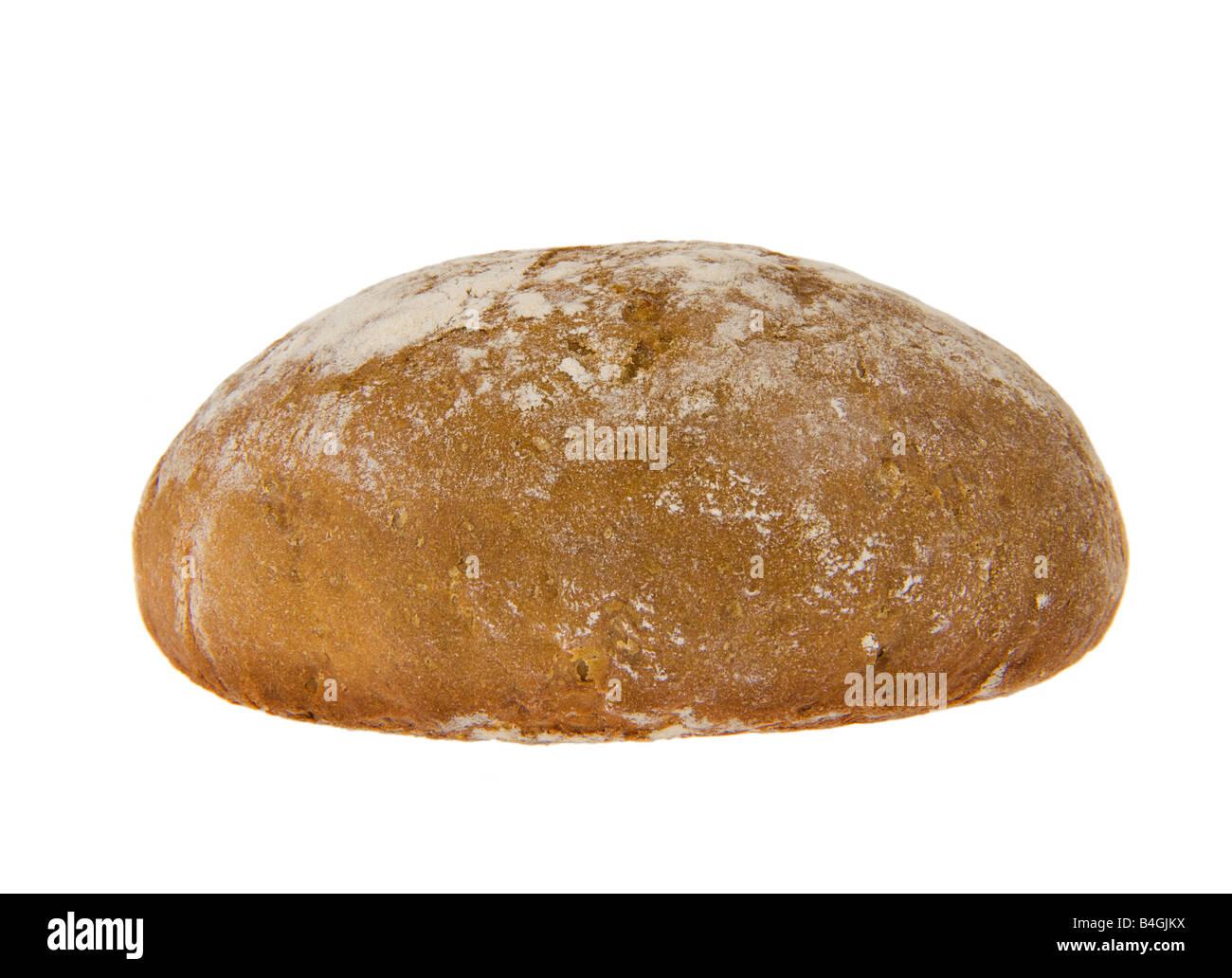 staple food dietary brown bread dark bread german germany rye brot baker bakery leaven sourdough cob loaf of bread - Stock Image
