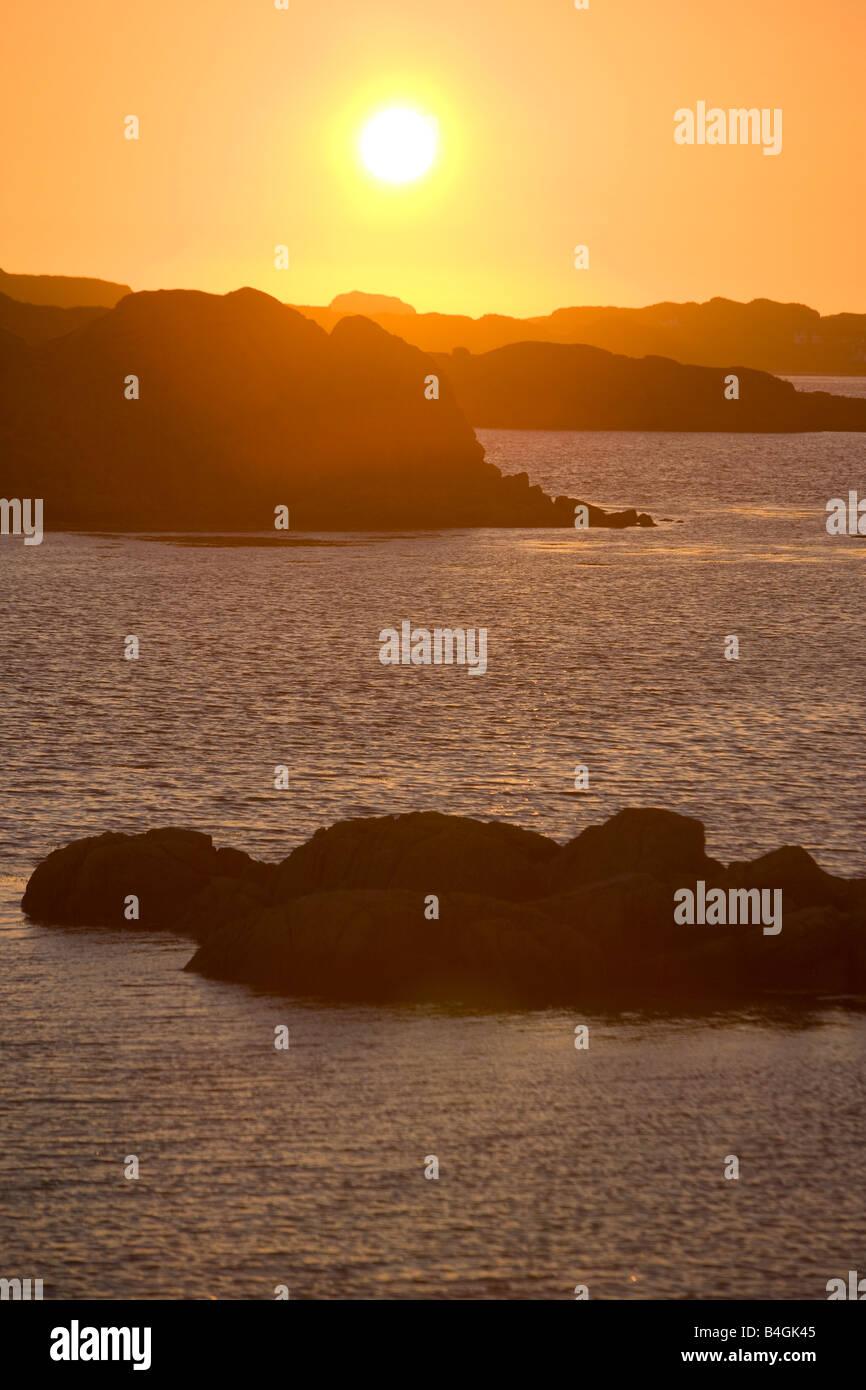 Sunset, Mull Scotland - Stock Image