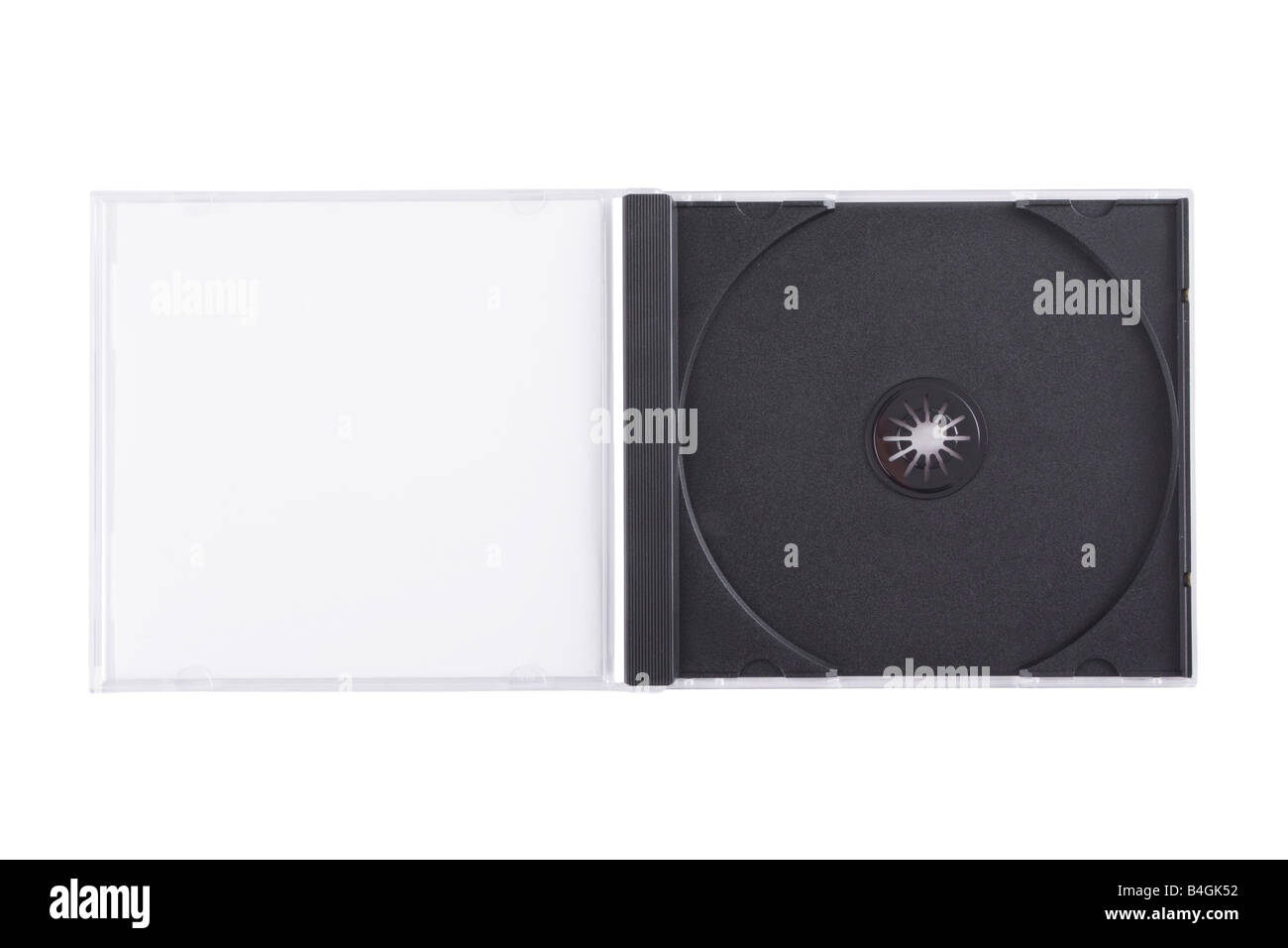 Empty DVD case isolated on a white background - Stock Image