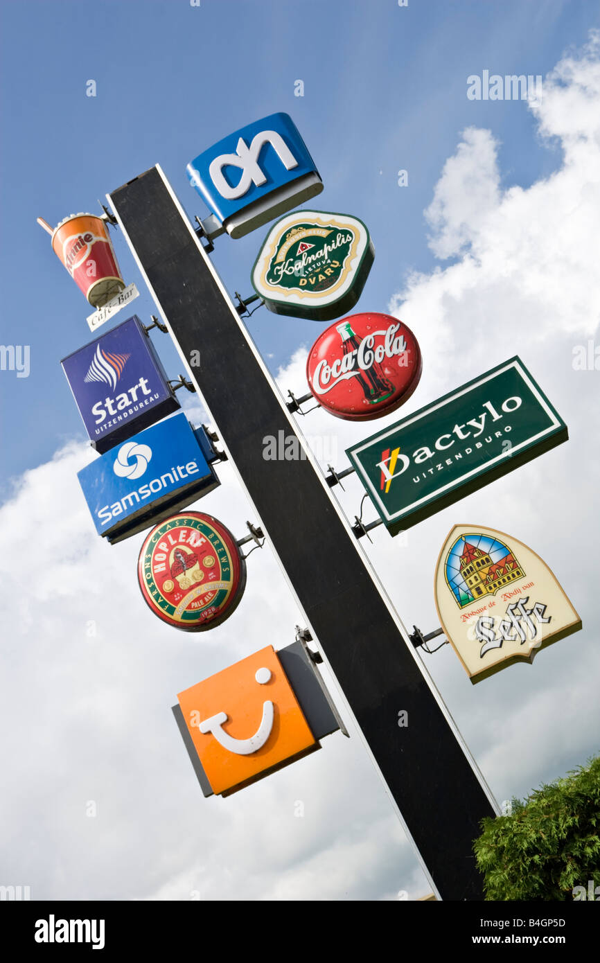Advertising sign - Stock Image