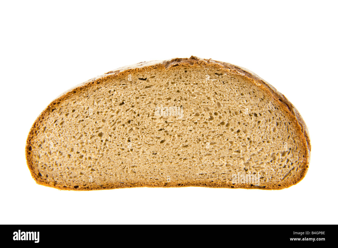 staple food dietary brown bread dark bread german germany rye brot baker bakery leaven sourdough cob loaf  slice - Stock Image