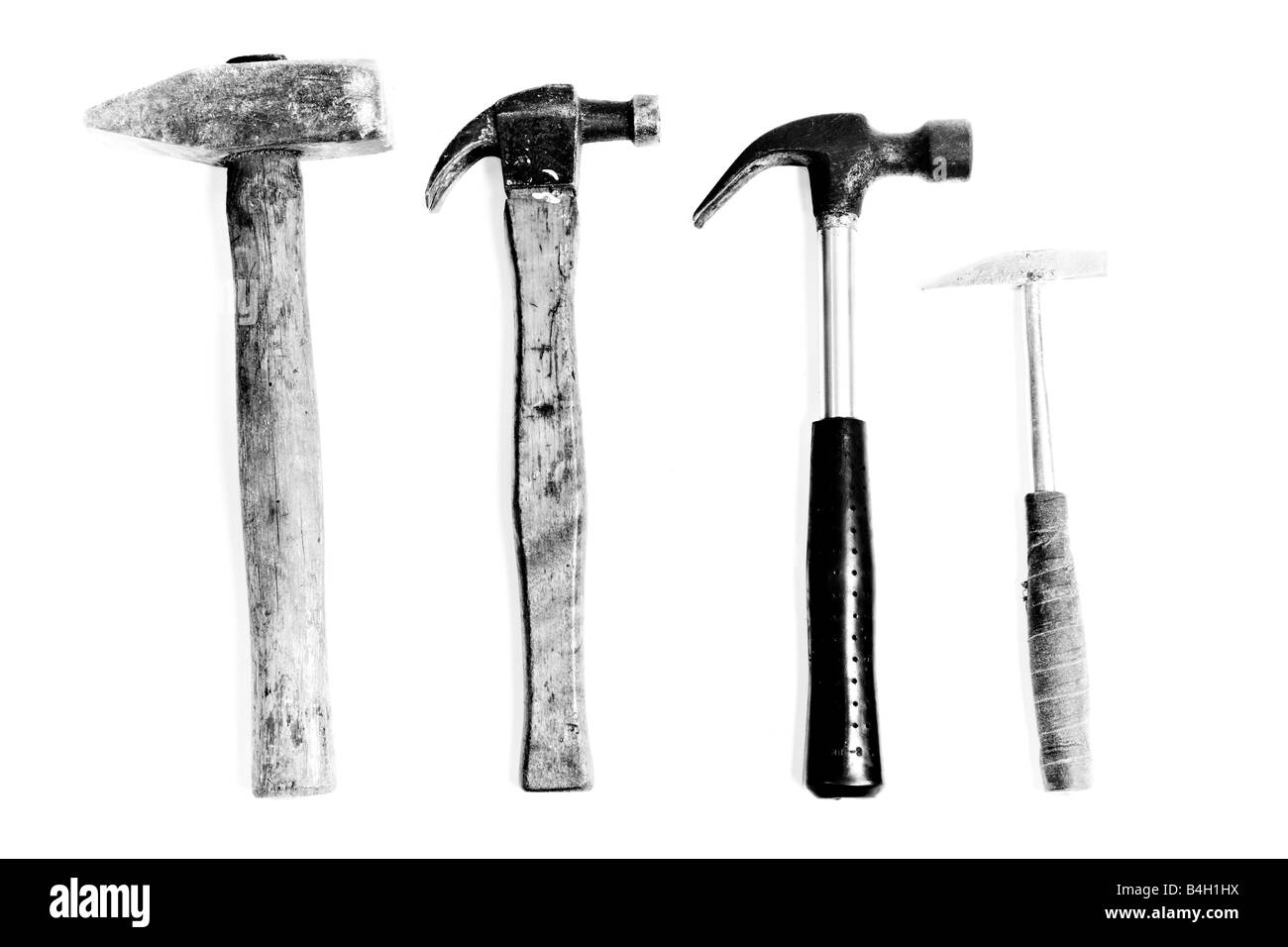 Four hammers Stock Photo