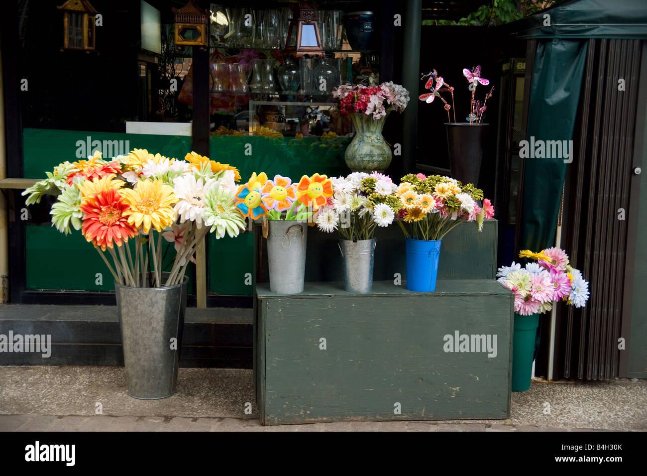 Artificial Flower Stall Stock Photos Artificial Flower Stall Stock