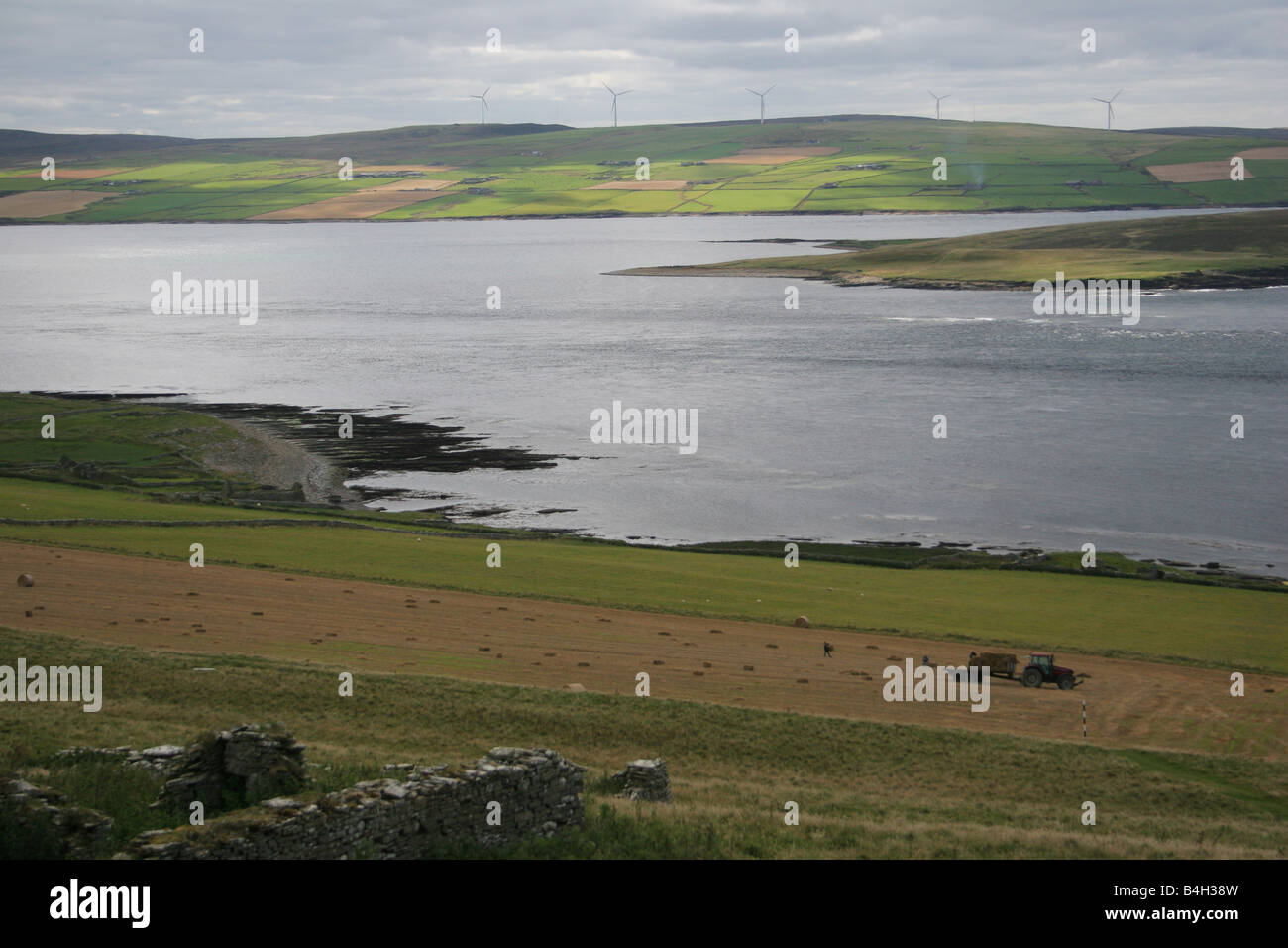 Mainland Orkney across the Eynhallow Sound from the island of Rousay, Orkney Isles, Scotland - Stock Image