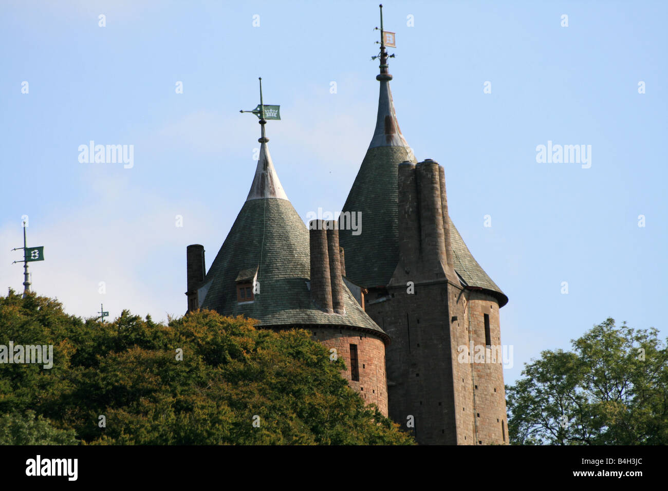 Castell Coch - Red Castle - Stock Image