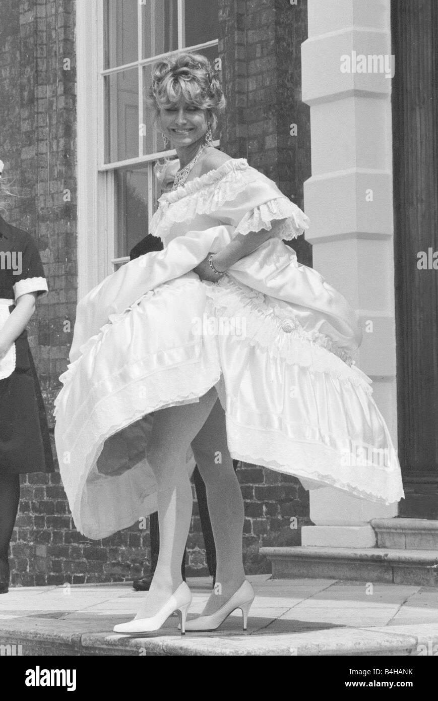 Felicity Kendal Actress Wearing A Wedding Dress July 1982