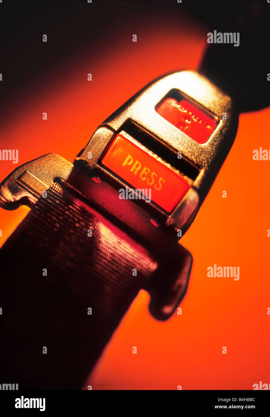 Car seat belt - Stock Image