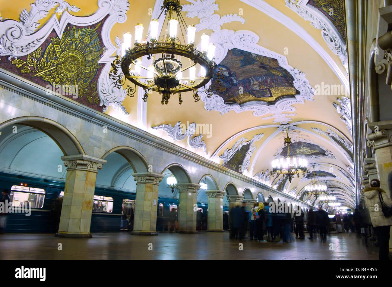 Yaroslavsky railway station - Komsomolskaya metro station: the way to the north 92
