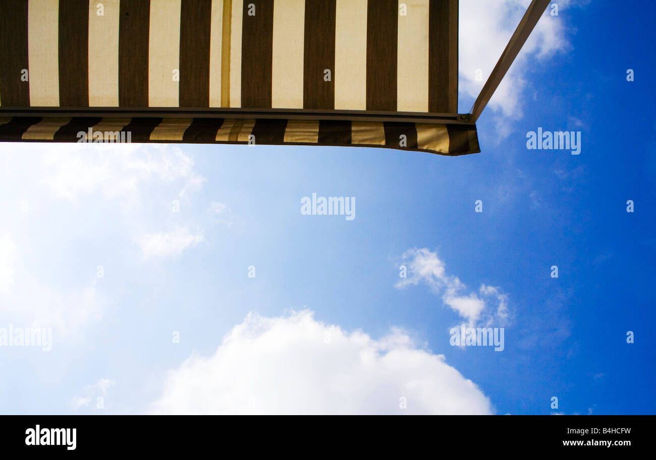 Low angle view of awning - Stock Image