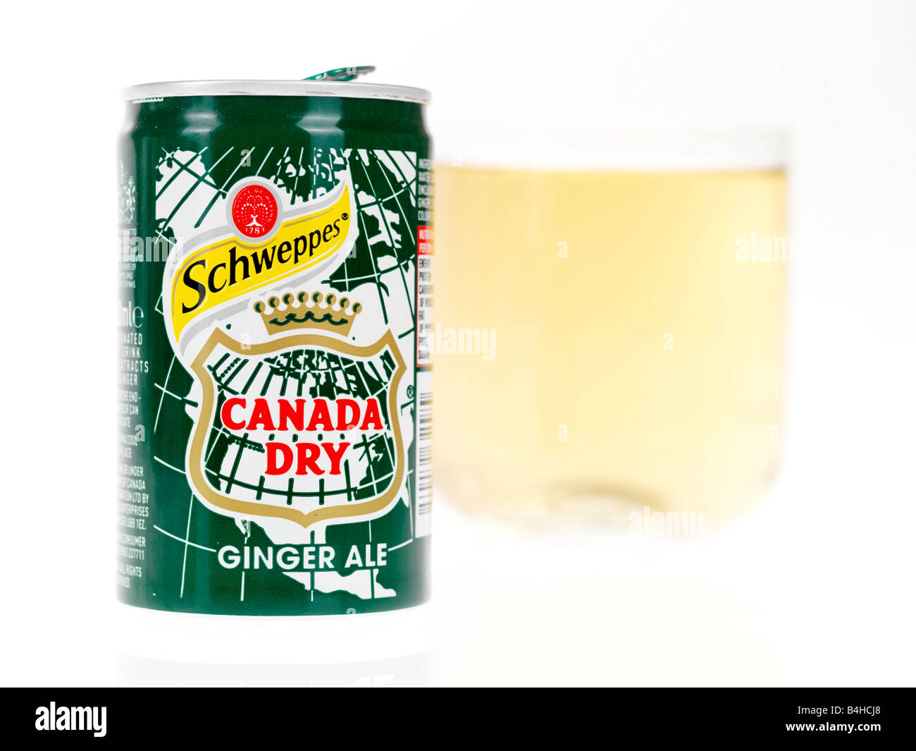 Glass of Ginger Ale - Stock Image