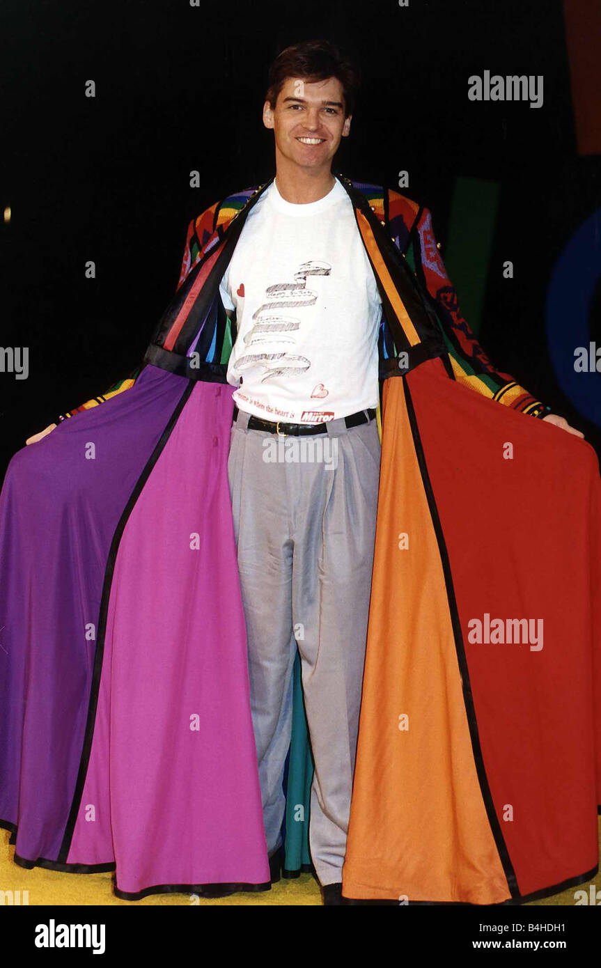 Phillip Schofield TV presenter and actor starring in the musical Joseph and His Amazing Technicolour Dreamcoat wearing Stock Photo