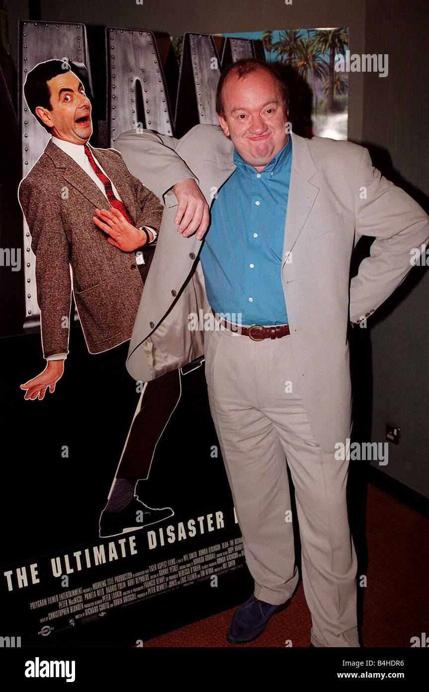 Mel Smith Comedian At Premiere Of Film Mr Bean 1997 Stock Photo Alamy