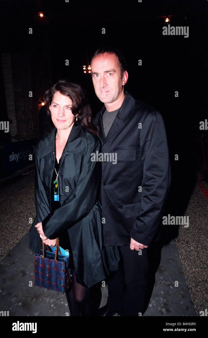 Angus Deayton Actor TV Presenter October 98 Ariving for the launch of Sky Digital TV at London s Battersea Station - Stock Image