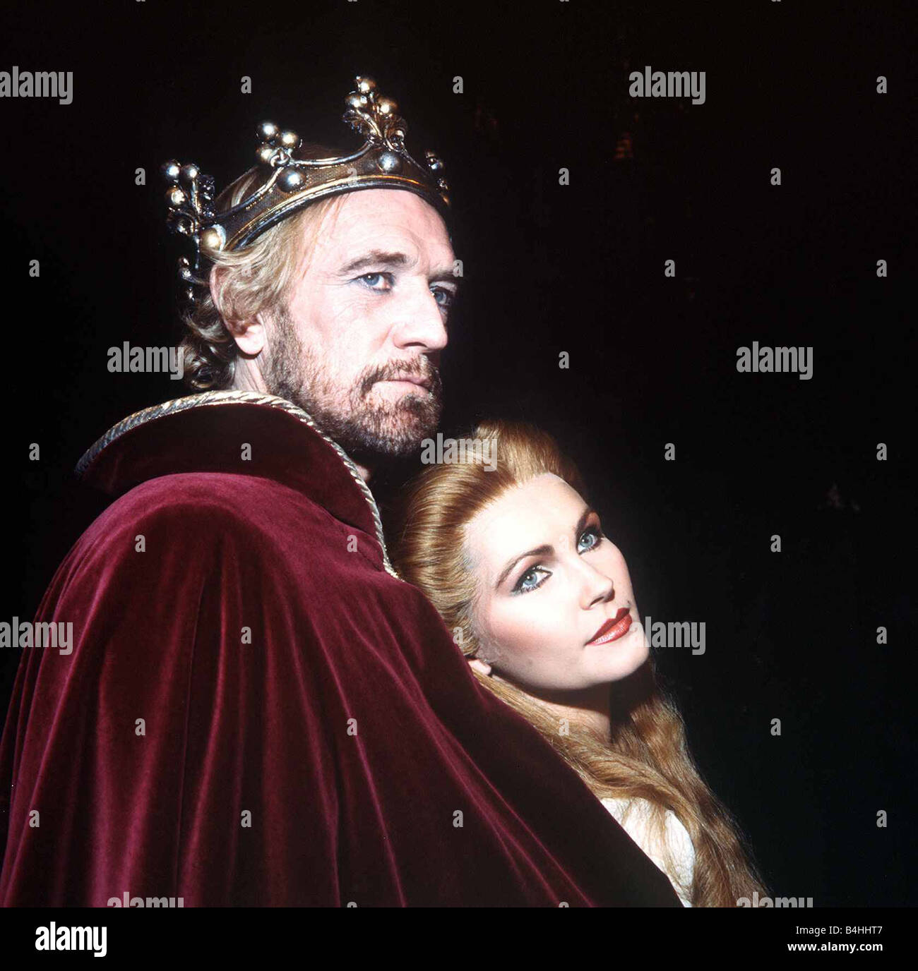 Fiona Fullerton actress with Richard Harris in Camelot stage play November 1982 Stock Photo