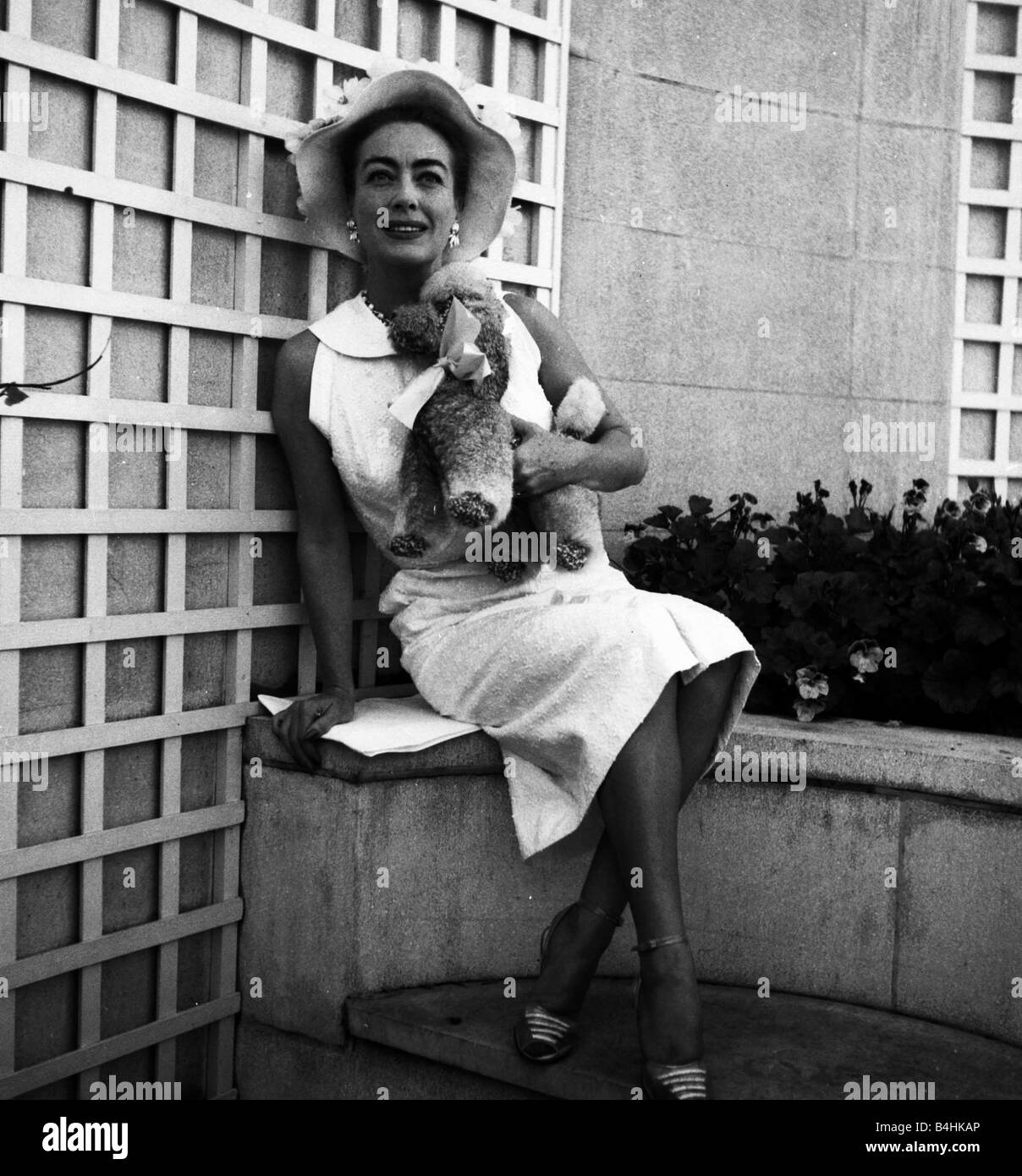 Actress Joan Crawford July 1956 - Stock Image