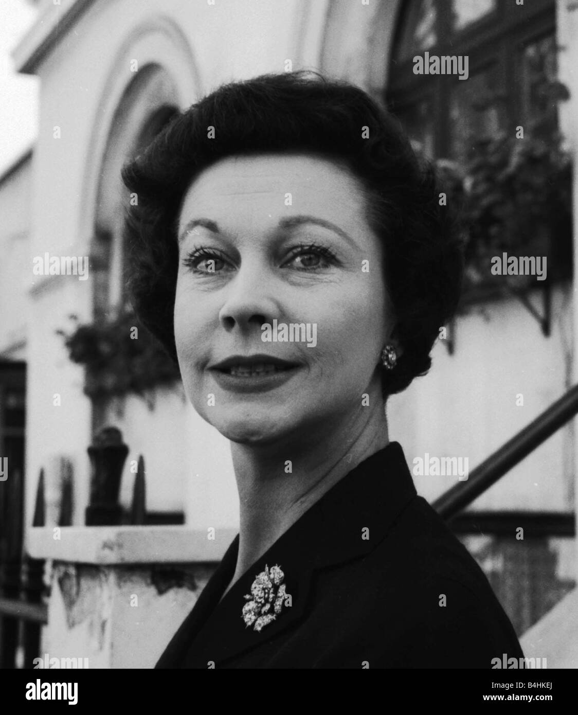 Actress Vivien Leigh in London August 1956 - Stock Image
