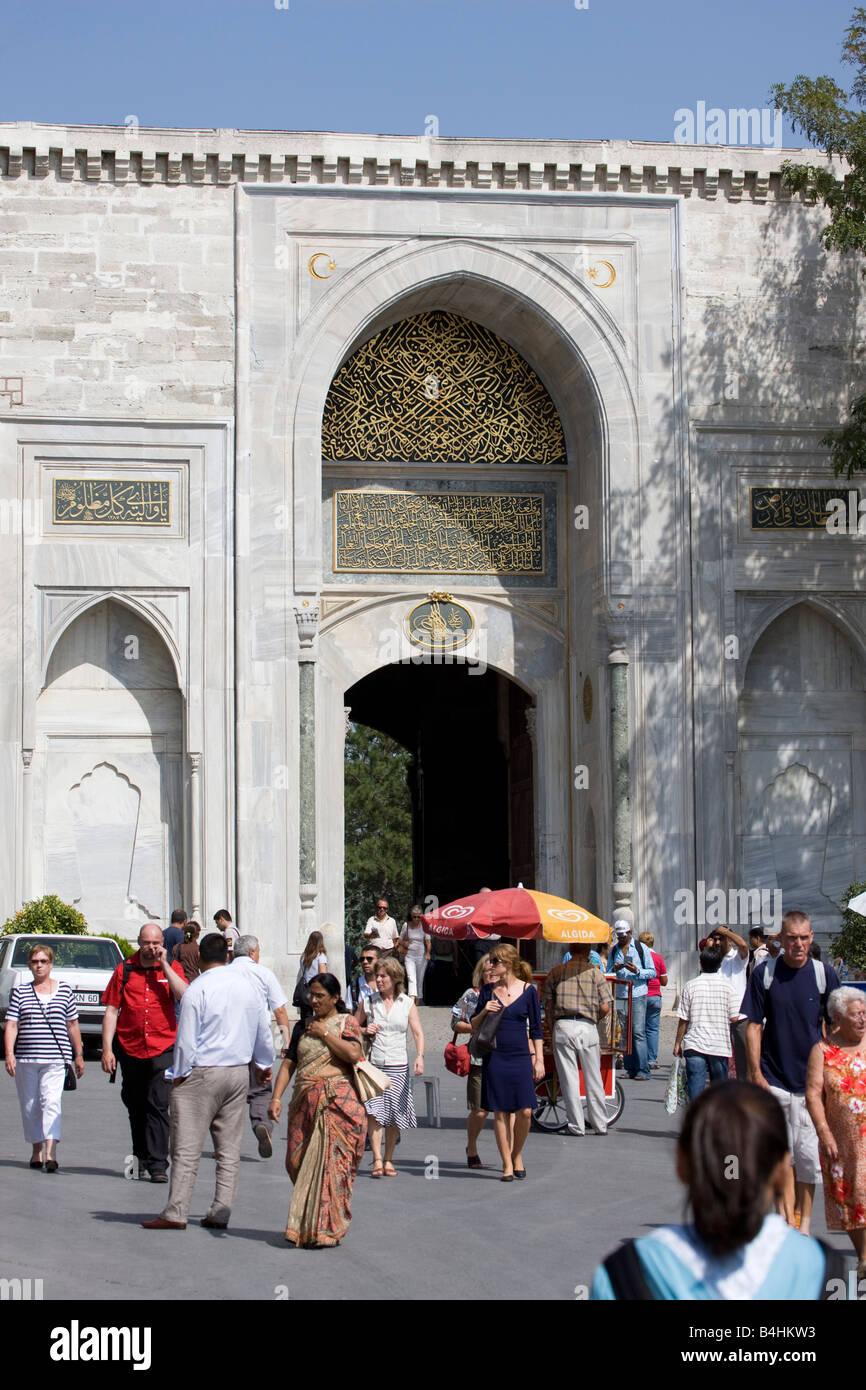 Entrance to Topkapi Palace (Topkapi Sarayi) Istanbul Turkey Istanbul Stock Photo
