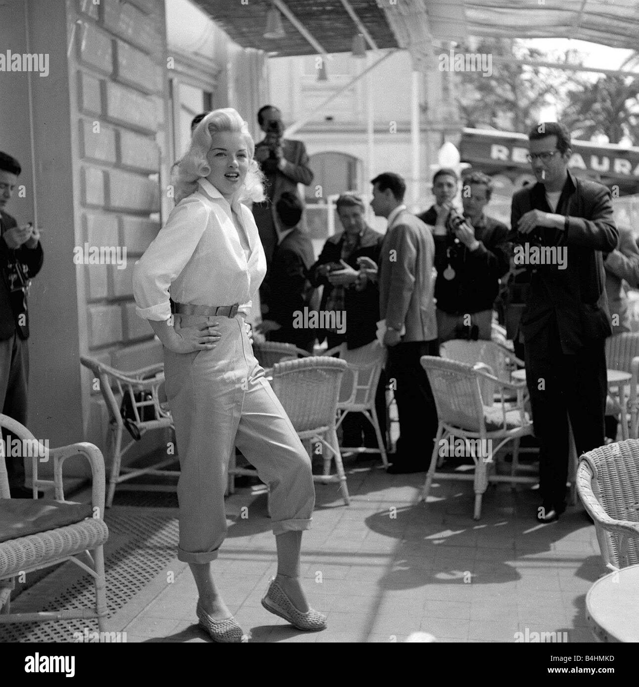 Diana Dors May 1956 Actress at cannes film Festival - Stock Image