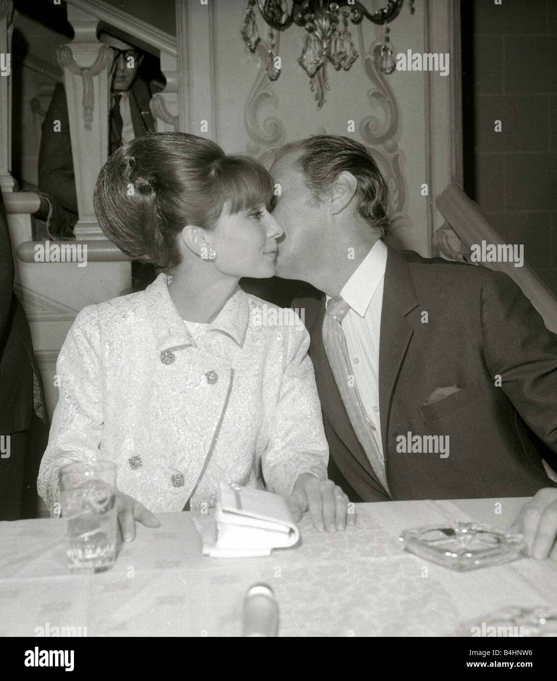 Audrey Hepburn October 1964 With Rex Harrison At The New York Premier Stock Photo Alamy